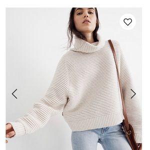 Madewell side bottom knit turtleneck